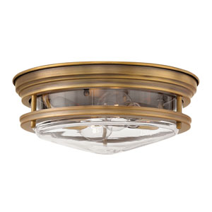 Hadley Brushed Bronze 12-Inch Two-Light Flush Mount