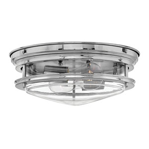 Hadley Chrome 12-Inch Two-Light Flush Mount