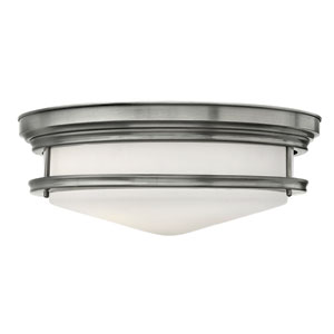 Hadley Antique Nickel Four Light Flush Mount