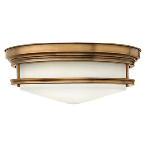 Hadley Brushed Bronze Four Light Flush Mount
