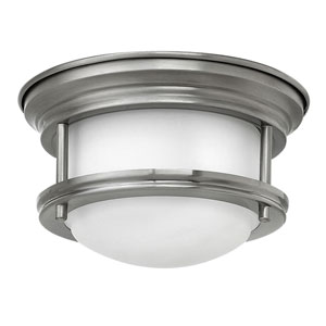 Hadley Antique Nickel 8-Inch One-Light LED Flush Mount