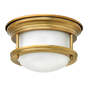 Hadley Brushed Bronze 8-Inch One-Light LED Flush Mount with Quick Fit Kit