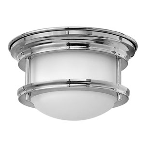 Hadley Chrome 8-Inch One-Light LED Flush Mount with Quick Fit Kit
