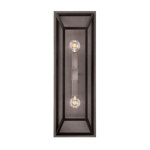 Fulton Aged Zinc Two-Light Wall Sconce