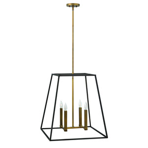 Fulton Bronze 22-Inch Four-Light Foyer Pendant