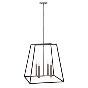 Fulton Aged Zinc 22-Inch Four-Light Foyer Pendant