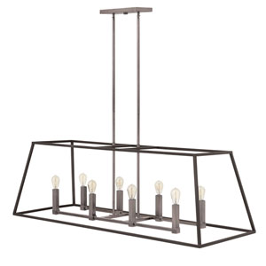 Fulton Aged Zinc Eight-Light Pendant