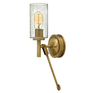 Collier Heritage Brass One-Light Wall Sconce