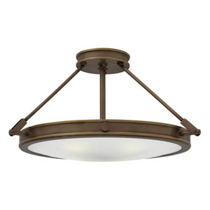 Collier Light Oiled Bronze 22-Inch LED Semi-Flush Mount