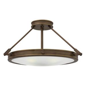 Collier Light Oiled Bronze 22-Inch LED Semi-Flush Mount