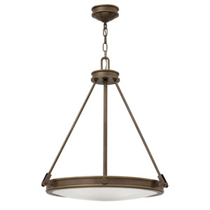 Collier Light Oiled Bronze 22-Inch Four-Light Inverted Pendant