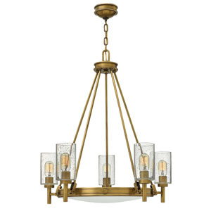 Collier Heritage Brass Five-Light Chandelier