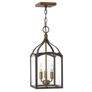 Clarendon Bronze Three-Light Foyer Pendant