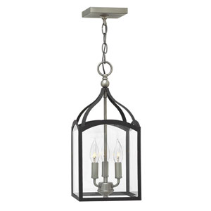 Clarendon Aged Zinc Three-Light Foyer Pendant