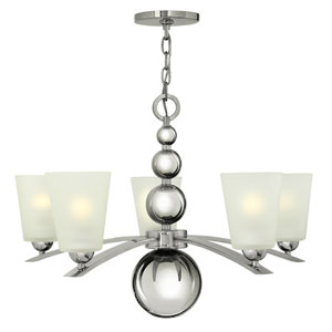 Zelda Polished Nickel Five-Light Chandelier