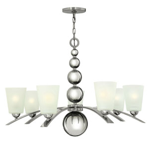 Zelda Polished Nickel Seven-Light Chandelier
