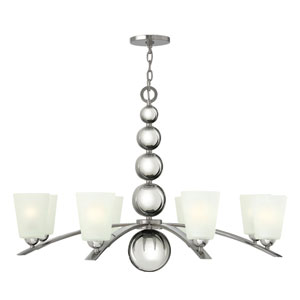 Zelda Polished Nickel Eight Light Chandelier