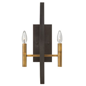 Euclid Spanish Bronze Two-Light Wall Sconce