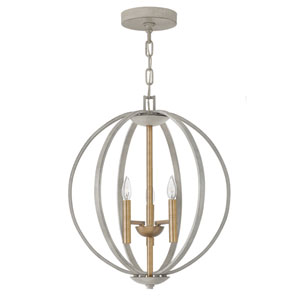 Euclid Cement Gray Three-Light Pendant
