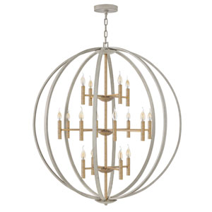 Euclid Cement Gray 16-Light Pendant