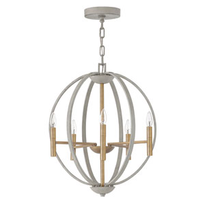 Euclid Cement Gray Six-Light Pendant