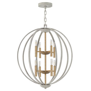 Euclid Cement Gray Eight-Light Pendant