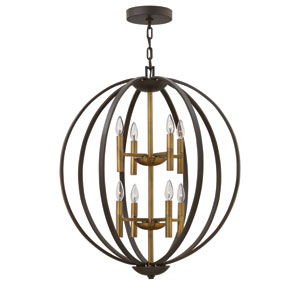 Euclid Spanish Bronze Eight-Light Foyer Pendant