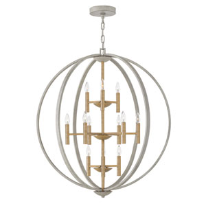 Euclid Cement Gray 12-Light Pendant