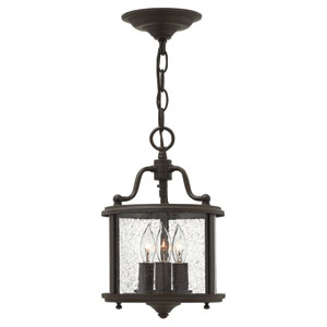 Gentry Olde Bronze Three Light Pendant
