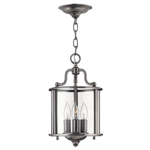 Gentry Small Pewter Foyer Pendant
