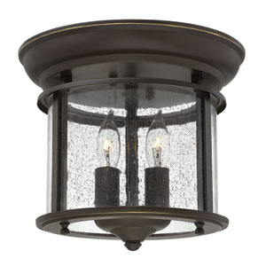 Gentry Olde Bronze Two Light Flush Mount
