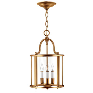 Gentry Heirloom Brass Four-Light Foyer Pendant
