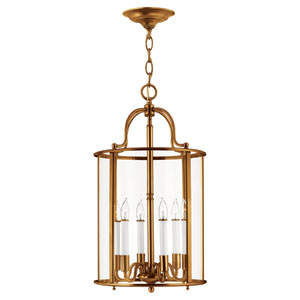 Gentry Heirloom Brass Six-Light Foyer Pendant