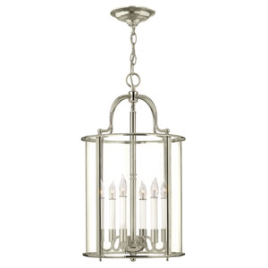 Gentry Polished Nickel Six-Light Foyer Pendant