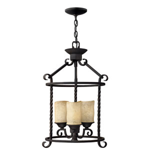 Casa Olde Black 21-Inch Three-Light Foyer Pendant