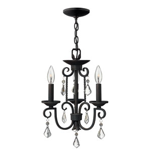 Casa Olde Black Three-Light Chandelier