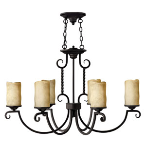 Casa Six-Light Oval Chandelier