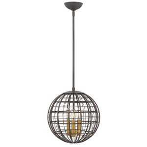 Terra Oiled Bronze 13-Inch Three-Light Single Tier Pendant