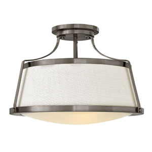 Charlotte Antique Nickel Semi Flush Mount