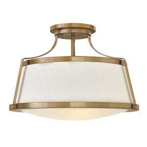 Charlotte Brushed Caramel Semi Flush Mount