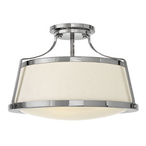Charlotte Chrome Semi Flush Mount