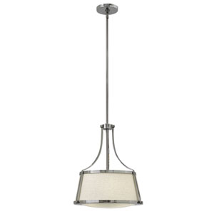 Charlotte Chrome 19.5-Inch Three-Light Foyer Pendant