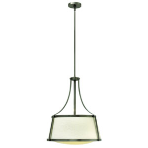 Charlotte Antique Nickel 20-Inch Three-Light Foyer Pendant