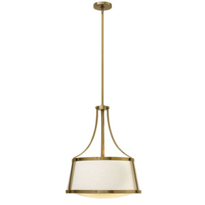 Charlotte Brushed Caramel 20-Inch Three-Light Foyer Pendant