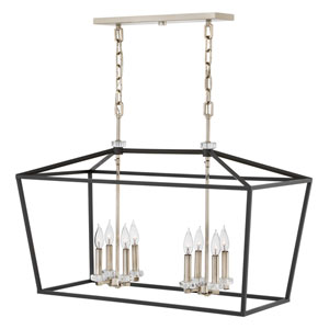 Stinson Black Eight-Light Linear Pendant