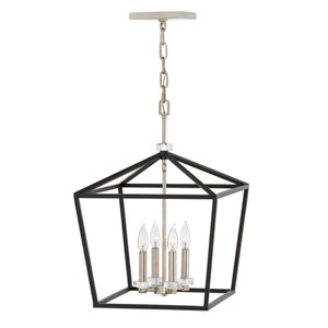 Stinson Black 16-Inch Four-Light Pendant