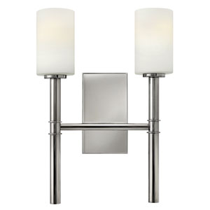 Margeaux Polished Nickel Two Light Sconce