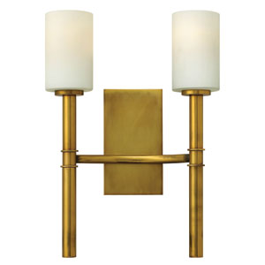 Margeaux Vintage Brass Two-Light Sconce