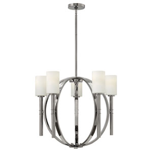 Margeaux Polished Nickel Five Light Chandelier