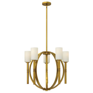 Margeaux Vintage Brass Five-Light Chandelier